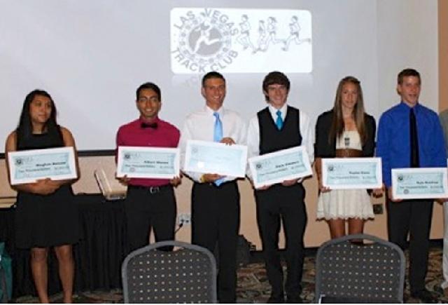 From left, Meghan Bolden, Albert Munoz, Eric Klein, Zach Zimdars, Taylor Coss and Kyle Kastrup