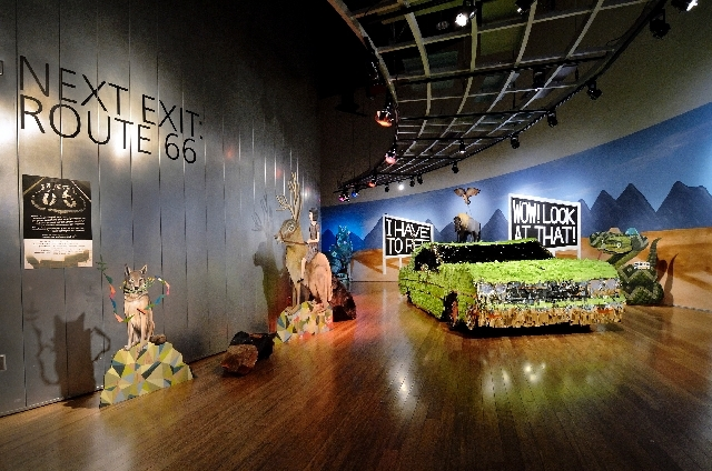 """A giant pinata depiction of a 1964 Chevrolet Impala sedan is part of the """"Next Exit: Route 66"""" exhibit at the Springs Preserve."""