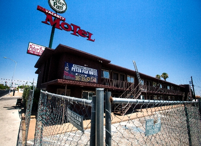 The Peter Pan Motel, about a block east of Maryland Parkway just off Fremont Street, was the latest property to be bought by the Downtown Project. The driving force behind the project is Zappos.co ...