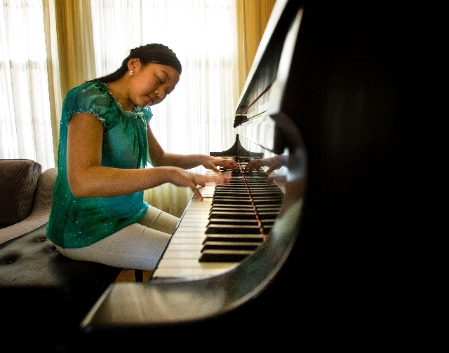 Pianist Victoria Young's music repertoire includes challenging works by Bach, Mozart and Chopin.