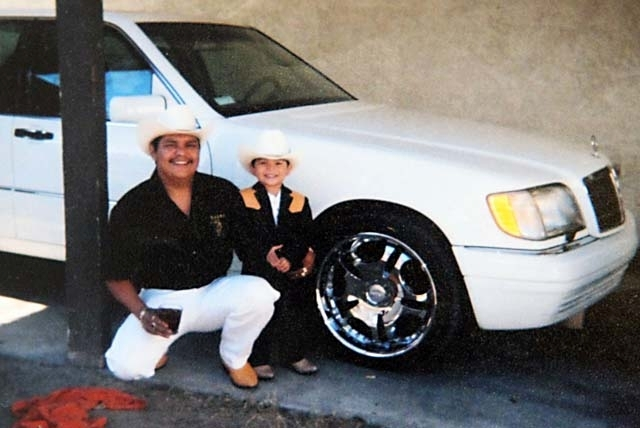 "A family photo of Luis Solano shows him with his son, Luis, about 6 years ago in Las Vegas. Medical examiners on Wednesday ruled Solano's death a homicide from ""complications of positional asphyxi ..."