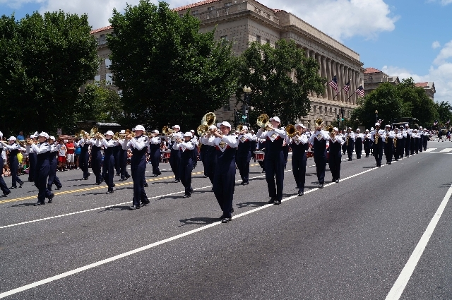 The Coronado High School marching band represented their school, Las Vegas and their country in the National Independence Day Parade on Thursday morning in Washington D.C.