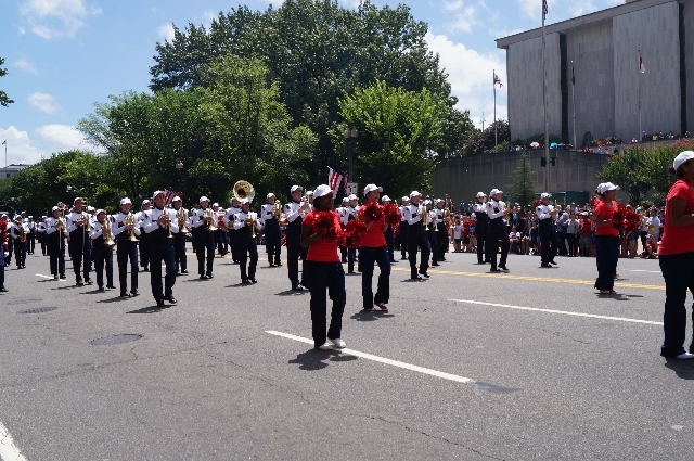 A hot day in Washington D.C. was a challenge, but practicing in the heat of the Las Vegas Valley prepared the Coronado High School marching band for the task at hand as they performed on Thursday  ...
