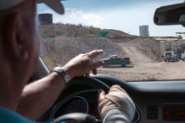 Tom Thonason, an investment partner for Quartette mine, explains the operation of the mine on Wednesday.
