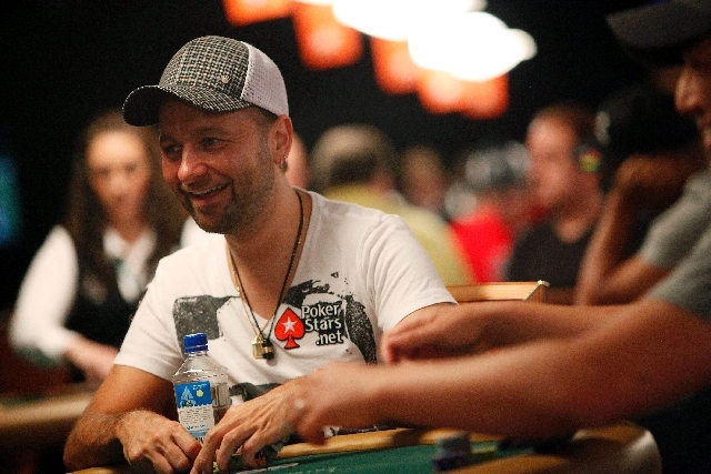 Noted professional Daniel Negreanu from Las Vegas plays Wednesday in the World Series of Poker $2,500 buy-in triple-draw lowball event at the Rio Convention Center.