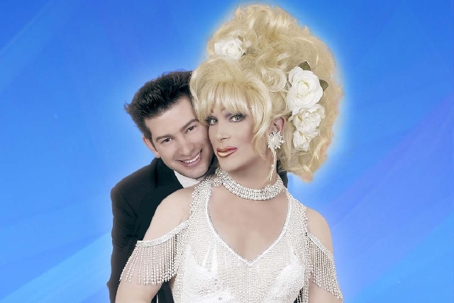 "Alex Schechter, left, and ""Divas"" star Frank Marino hope to marry in Nevada if the state legalizes gay marriage."