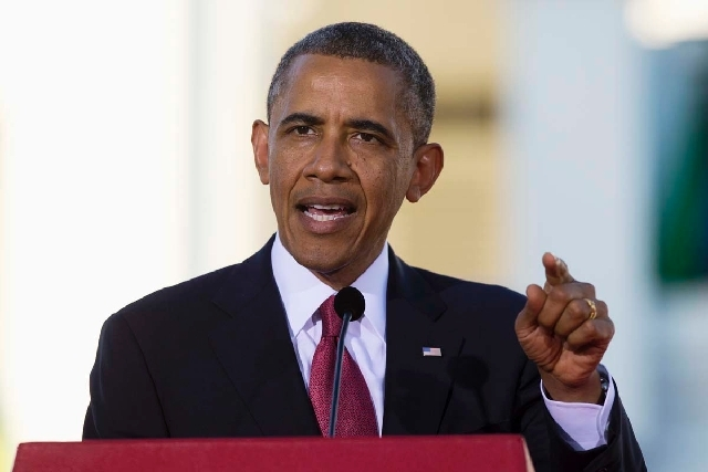 President Barack Obama speaks during a news conference on Monday in Tanzania.