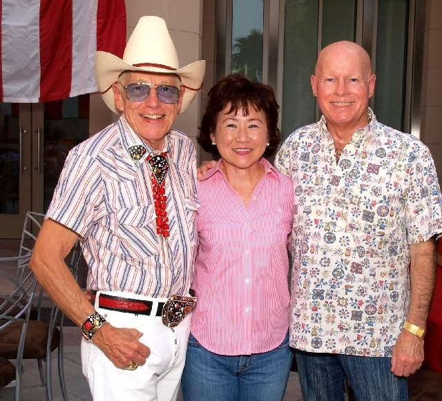 Bill Griffin, from left, Maria Ong and Norman Forrester