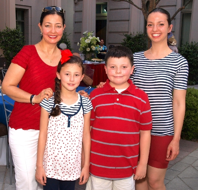 Prisca Crawford, from left, Emma Crawford, William Crawford and Elena Jacob
