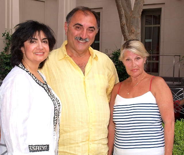 Anna and Ken Kabadian, from left, and Sondra Lynch