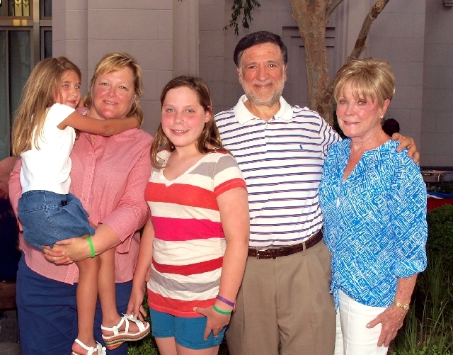 The Ricciardi family, from left, Grace, Sara, Mary, Mark and Joan Bodensteiner