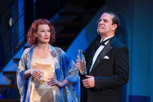 "Melinda Parrett and Aaron Galligan-Stierle star in the Utah Shakespeare Festival production of ""Anything Goes."""