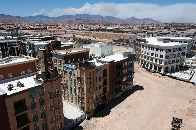 Construction is set to begin again on the renamed The Gramercy development on Russell Road just west of the Las Vegas Beltway in Las Vegas. The development, shown here on Monday, was formerly know ...