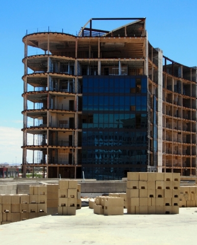 The Penthouse Tower is seen at The Gramercy, in Las Vegas, Monday.