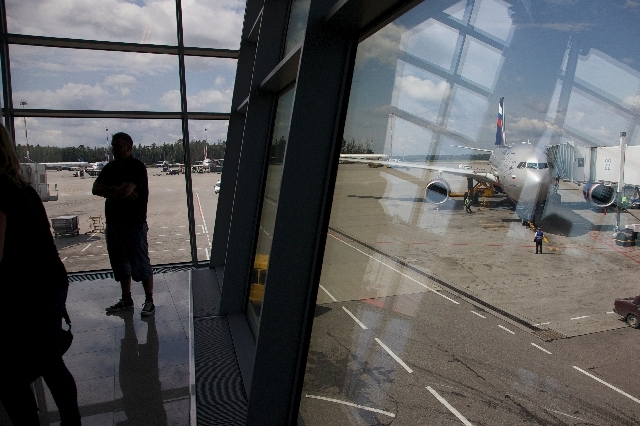 The Aeroflot flight to Havana plane is seen parked for boarding next to a gate of Sheremetyevo airport outside Moscow, Russia, on Tuesday. NSA leaker Edward Snowden is believed to be stuck in the  ...