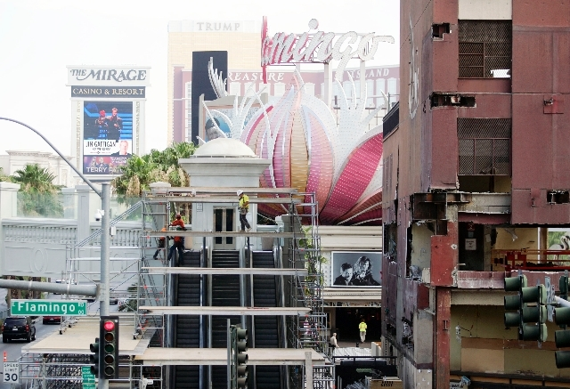 Construction of Caesars Entertainment's Gansevoort Las Vegas development, formerly Bill's Gamblin' Hall, is under way Tuesday at Las Vegas Boulevard and Flamingo Road. The property is expected to  ...