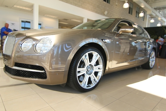 The new Bentley Flying Spur was unveiled recently at Towbin Motorcars.
