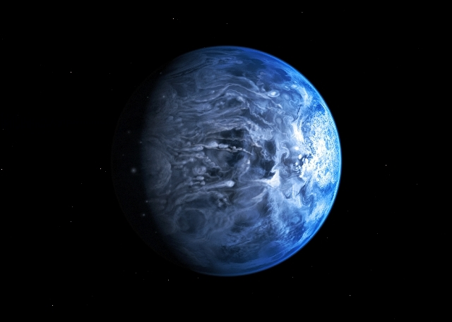 In this undated illustration provided by the European Space Agency (ESA), an artists impression of one of Earth's nearest planets outside the solar system named HD 189733B. Astronomers said Friday ...