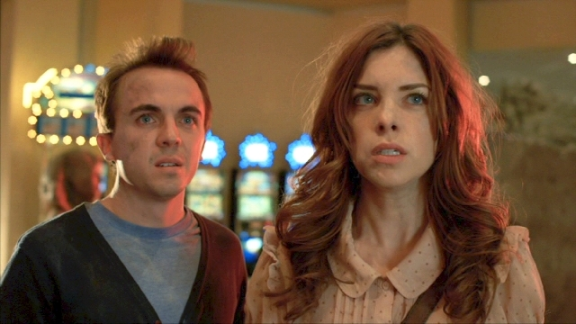"""Frankie Muniz, as Nelson, and Maggie Castle, as Olive, lead the cast in """"Blast Vegas."""""""