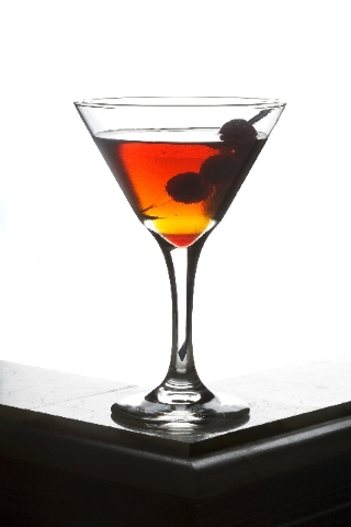 The Twisted Manhattan is displayed at The Lady Silvia bar at 900 Las Vegas Blvd. South. It's made with 2 ounces of Bulleit rye, ¾ ounce Carpano Antica vermouth, a dash of bitters and garnis ...
