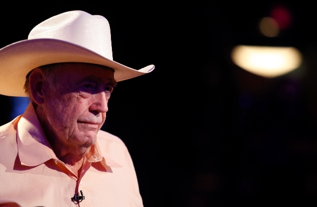 Poker icon Doyle Brunson, 79, is shown after being eliminated from the World Series of Poker Main Event on Friday at the Rio Convention Center. Brunson, who won the Main Event in 1976 and 1977, fi ...