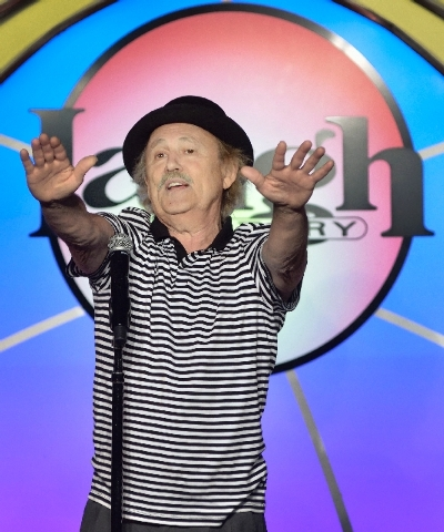 Comedian Gallagher performs at the Laugh Factory in the Tropicana.