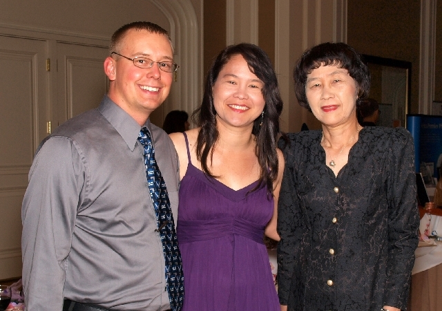 Kambrin Drew, from left, Ellia Ciammaichella and Keiko Ciammaichella
