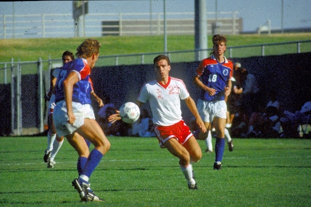 Simon Keith led the UNLV soccer team to the NCAA tournament in 1987 and 1988, earning all conference honors. He was taken first in the Major Indoor Soccer League draft and played professionally ju ...