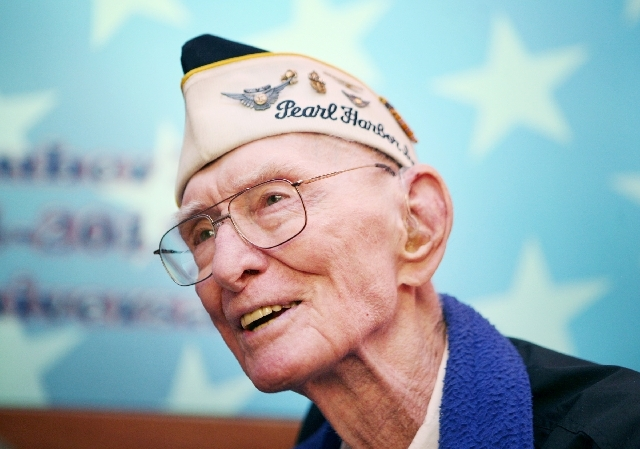 Clifton Dohrmann, seen at Nellis Air Force Base Officer's Club in 2011, will be buried on Tuesday.