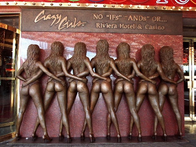 """2. """"Crazy Girls"""" statue at the Riviera"""
