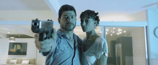 """John T. Woods and Paulie Rojas star in """"Down and Dangerous,"""" slated for the Las Vegas Film Festival."""