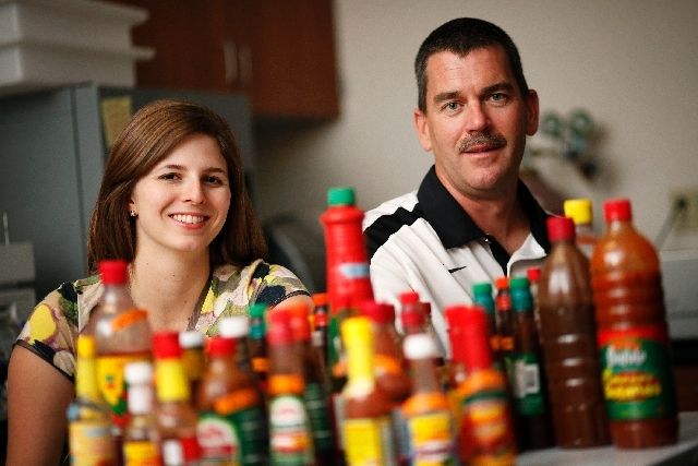 Jennifer Berger, lead and healthy homes specialist, and Shawn Gerstenberger, Interim Dean of the School of Community Health Sciences, studied the lead levels in hot sauces imported from Mexico.
