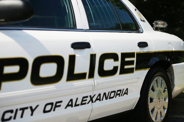 An Alexandria Police Dept. squad car is seen outfitted with a license plate scanner mounted to the on the trunk, Tuesday in Alexandria, Va.