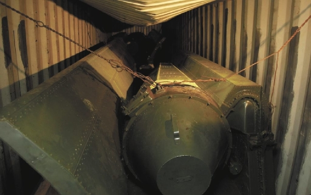 Military equipment lays in containers aboard a North Korean-flagged ship Tuesday in Colon City, Panama. A North Korean ship carrying weapons system parts buried under sacks of sugar was seized as  ...