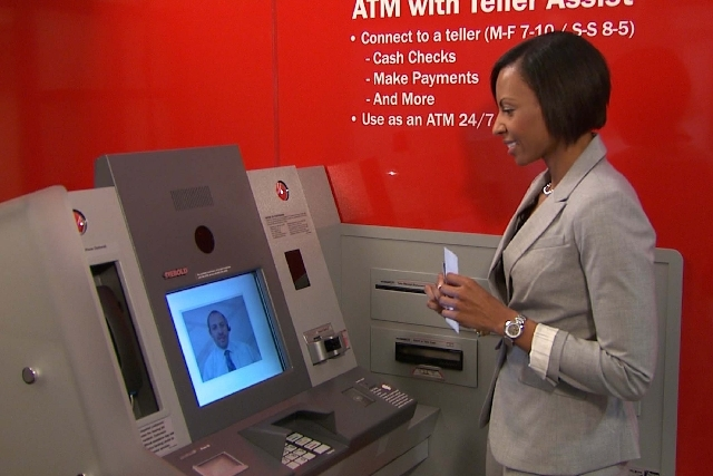 Bank of America is among the first to roll out new ATMs with Teller Assist, a feature that allows customers to live video chat with a remote teller.