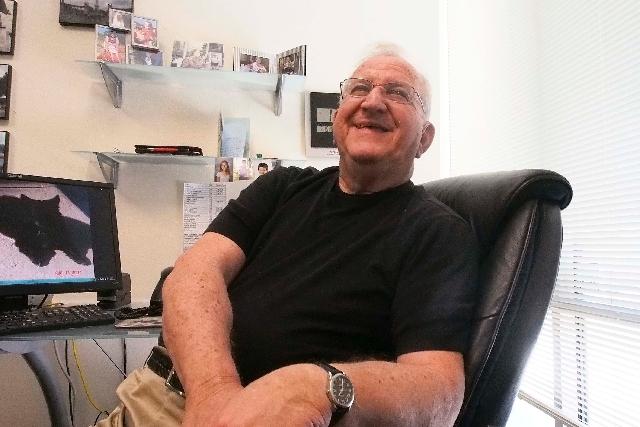 Chuck Schwartz, chairman of Convexx, is seen July 15 in his office in Las Vegas.