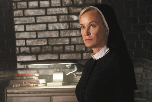 "Jessica Lange portrays Sister Jude in ""American Horror Story: Asylum."" The series received the most nominations of any show, garnering 17."