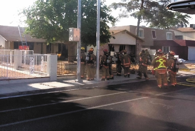 A house fire Thursday morning at 400 N. Torrey Pines Drive gutted the kitchen and caused $100,000 in damage.