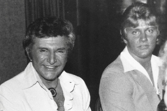 Entertainer Liberace, left, is seen with Scott Thorson at a Boston-area restaurant in 1981. Thorson was sentenced Wednesday in Reno to 8 to 20 years for burglary and identity theft, but the judge  ...