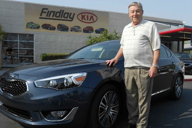 Longtime Las Vegan Bernie Kaufman purchased a 2014 Kia Cadenza from Findlay Kia.