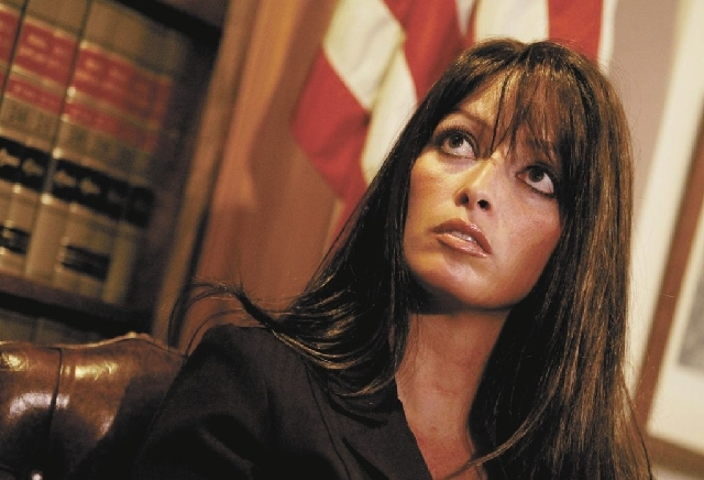 Former cocktail waitress Chrissy Mazzeo, shown here in 2006, has settled her lawsuit with ex-Gov. Jim Gibbons, former Sheriff Bill Young, campaign strategist Sig Rogich and Las Vegas Metropolitan  ...