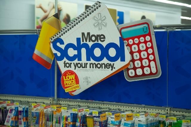Walmart back to school.