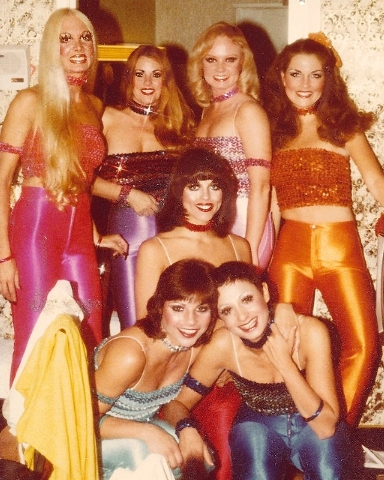 "Janice ""Cinnamon"" Steen Fahey, back row, second from left, choreographed and starred in ""Five Shameless Hussies"" at the Maxim and Hacienda casinos. Fahey died Monday at 67, after a six-year fight  ..."