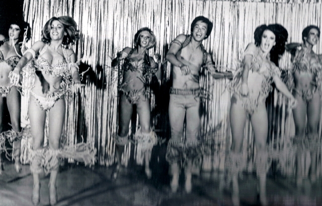 "Janice ""Cinnamon"" Steen Fahey, second from left, performs in Bare Touch of Vegas. She won Las Vegas Ensemble Girl of the Year twice, including in 1974, around the time of this photo. Fahey ""went f ..."