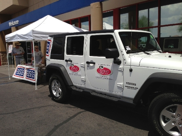 Chapman Chrysler Jeep and Chapman Dodge Chrysler Jeep Ram teamed up with area Sam's Club and Big Lots stores to help collect donations for USO Las Vegas.