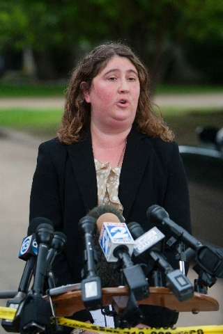 Houston Police Department spokesperson Jodi Silva answers questions during a news conference Friday in Houston.