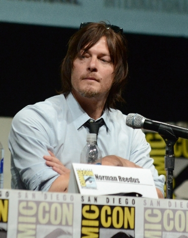 """Norman Reedus participates in """"The Walking Dead"""" panel on Day 3 of Comic-Con International on Friday in San Diego."""
