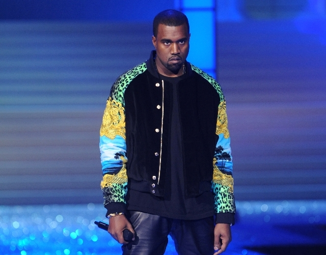 Kanye West performs during the Victoria's Secret fashion show in New York.