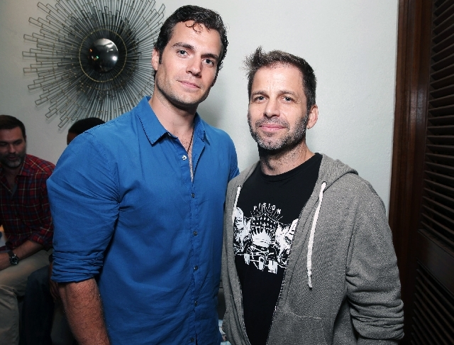 "Henry Cavill and ""Man of Steel"" director Zack Snyder attend the Superman 75th anniversary party during the Comic-Con convention on Friday in San Diego."