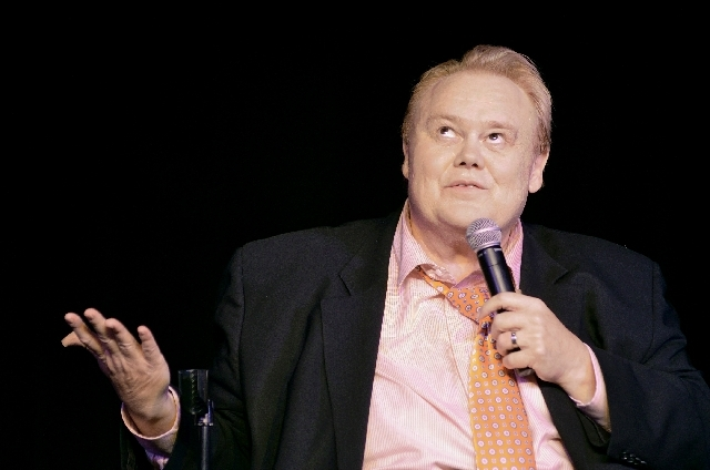 Comedian Louie Anderson performs in the showroom at the Plaza.
